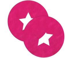 Розовые круглые пестис со звёздочками