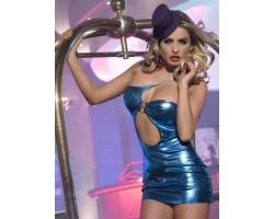 Клубное платье с ассиметричным вырезом, S-M-L, фиолетовый