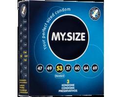 Презервативы MY.SIZE №3 размер 53 - 3 шт.