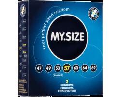 Презервативы MY.SIZE №3 размер 57 - 3 шт.