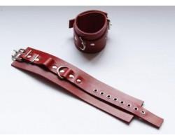 Красные не подшитые наножники со сварным D-кольцом