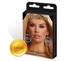 Круглые серьги Bitch, безразмерный, золотой