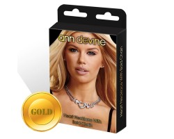 Колье с подвеской Heart Necklace With Bold Chain, безразмерный, золотой