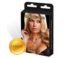 Цепочка с большой подвеской-сердцем, безразмерный, золотой