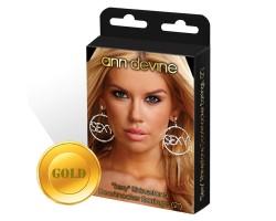 Круглые серьги  SEXY , безразмерный, золотой