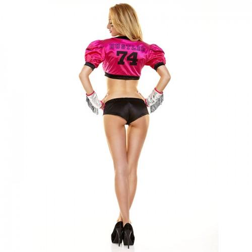 Розовый костюм футболистки TIGHT END, M-L, розовый с черным