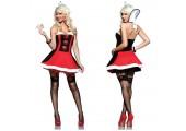 Платье азартной серцеедки, XL, черный с красным