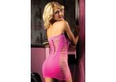 Платье-бандо с тонким плетением, S-M-L, розовый