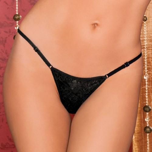 Сексуальные трусики-стринги, S-M-L, черный с розовым