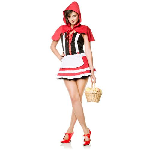 Платье Красная Шапочка, L, белый/горячий розовый