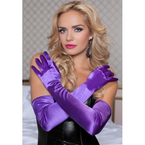 Бархатистые оперные перчатки, S-M-L, белый