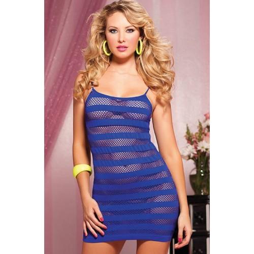 Платье в полоску, S-M-L, розовый