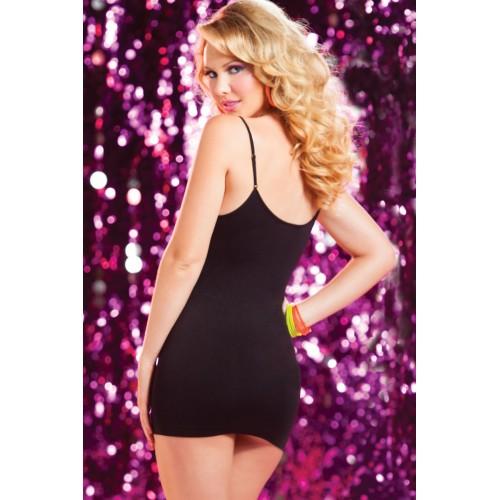Двустороннее платье с горизонтальными вырезами, S-M-L, розовый