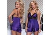 Пижамный комплект из маечки и шортиков, XL, фиолетовый