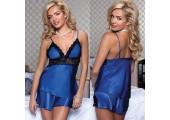 Пижамный комплект из маечки и шортиков, M, синий
