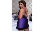 Очаровательная сорочка увеличенного размера, 3X-4X, фиолетовый