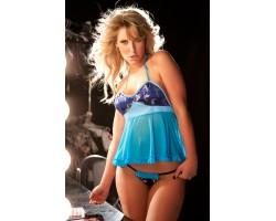Голубенькая сорочка бэби-долл LANA, S-M-L, голубой