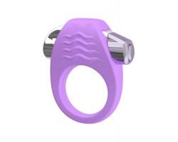 Фиолетовое эрекционное кольцо с вибрацией Stylish Soft Touch C-ring