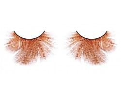 Оранжево-красные ресницы-перья