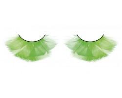 Пушистые зеленые ресницы-перья