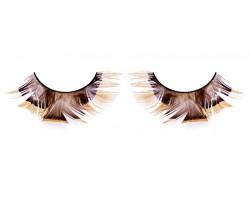 Коричневые ресницы-перья