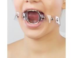Кляп-кольцо на прозрачных ремешках