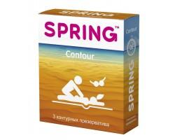 Контурные презервативы SPRING CONTOUR - 3 шт.