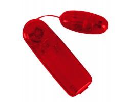 Красное виброяичко с пультом Bullet in Red