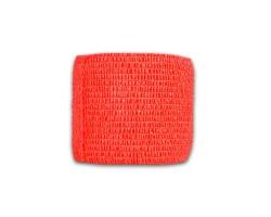 Широкая перевязочная лента красного цвета - 230 см.
