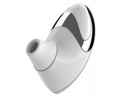 Белоснежный вакуумный стимулятор клитора W500 Pro с двумя сменными насадками