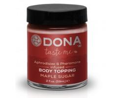 Топпинг для тела DONA Maple Sugar с ароматом кленового сиропа - 59 мл.