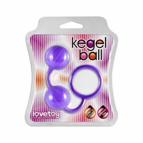 Фиолетовые вагинальные шарики с петелькой для извлечения