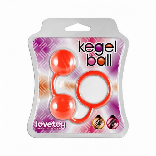 Оранжевые вагинальные шарики Kegel Ball