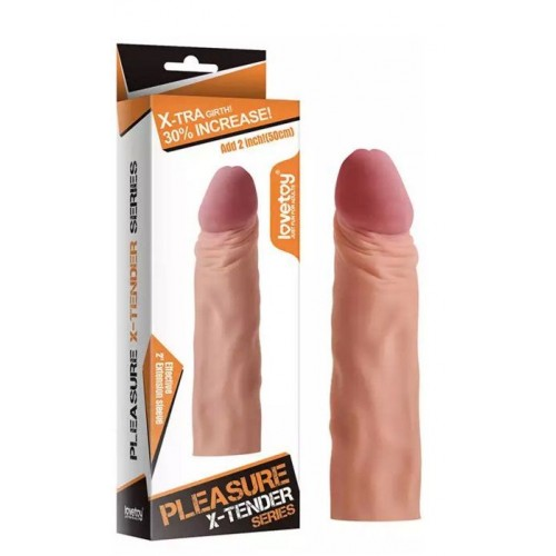 Насадка-фаллоимитатор Super-Realistic Penis - 19 см.