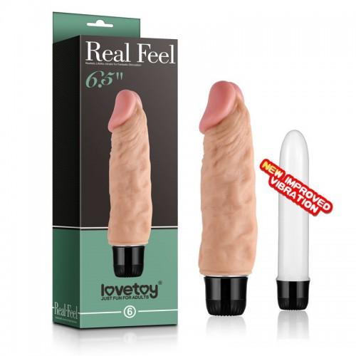 Водонепроницаемый вибратор Real Feel Realistic - 17 см.