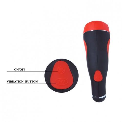 Мастурбатор-вагина с вибрацией в тубе на присоске