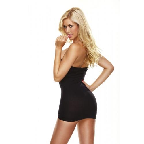 Ультракороткое облегающее платье-бюстье, S-M-L, черный