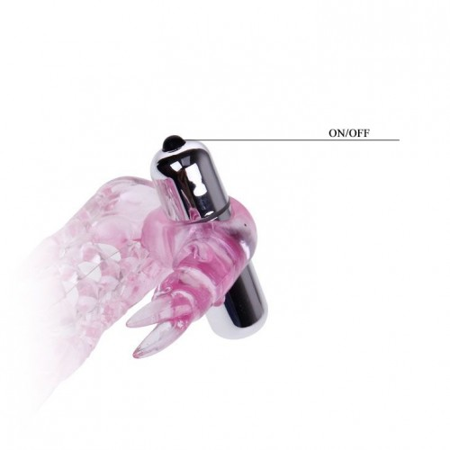 Насадка на фаллос с вибрирующим стимулятором - 17 см.