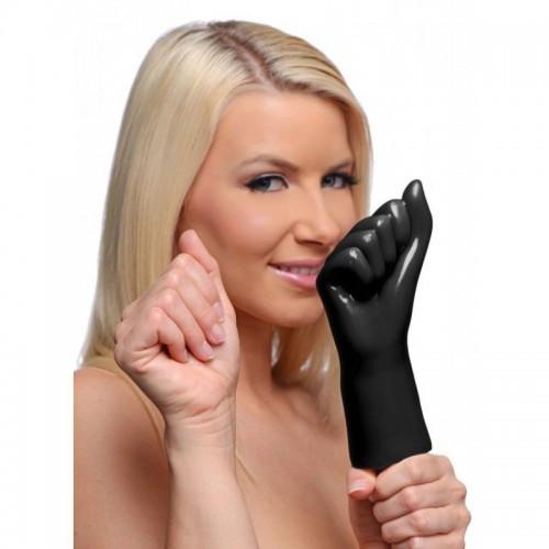 Рука с вибрацией, сжатая в кулак, для фистинга - 20 см.