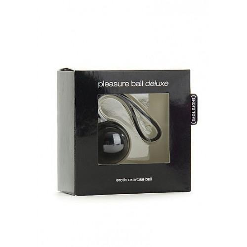 Черный вагинальный шарик Pleasure Ball Deluxe