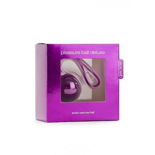 Фиолетовый вагинальный шарик Pleasure Ball Deluxe