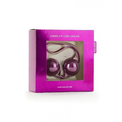 Фиолетовые вагинальные шарики в сцепке Pleasure balls Deluxe
