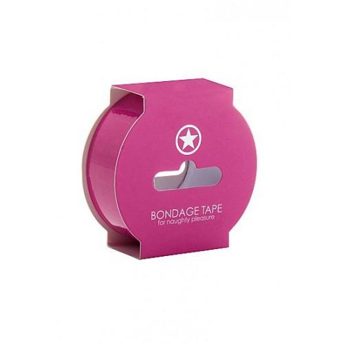 Розовая лента Non Sticky Bondage Tape - 17,5 м.