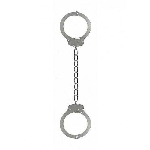 Металлические серебристые оковы Pleasure Legcuffs
