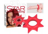 Красное эрекционное кольцо в форме звезды Star