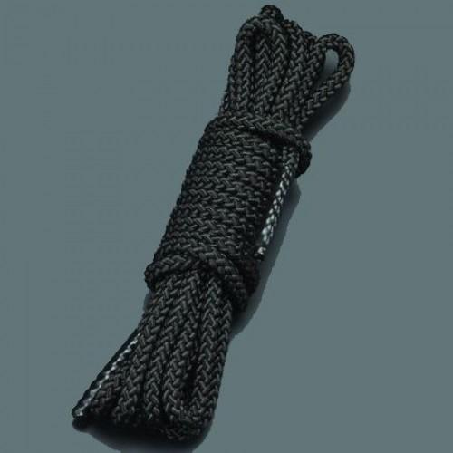 Черная шелковистая веревка для связывания - 5 м.