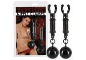 Зажимы на соски с шариками Nipple Clamps Heavy Balls