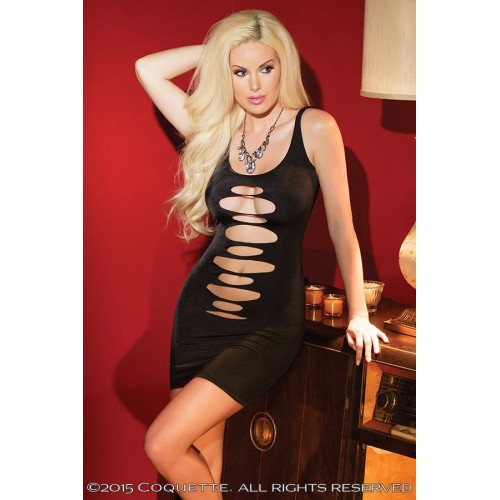 Двустороннее платье на бретелях, S-M-L, черный