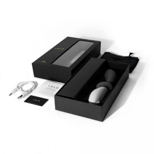 Графитовый перезаряжаемый вибростимулятор простаты Loki Obsidian Black - 19,6 см.