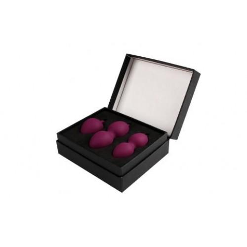 Набор фиолетовых вагинальных шариков Nova Ball со смещенным центром тяжести